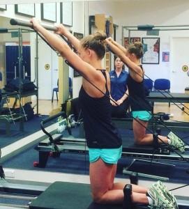 emma siddle pilates at gold coast physio & sports health