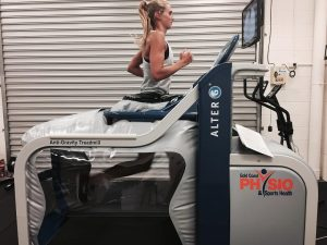 sports physio treadmill running alter-g