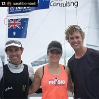 physio sarah bombell and australian sailing