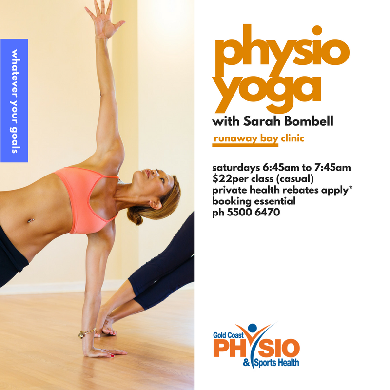 Physio Yoga At Runaway Bay Clinic With Sarah Bombell